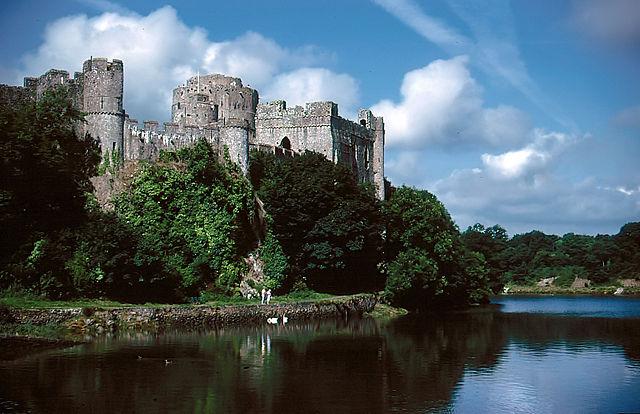 Pembroke Castle in Wales