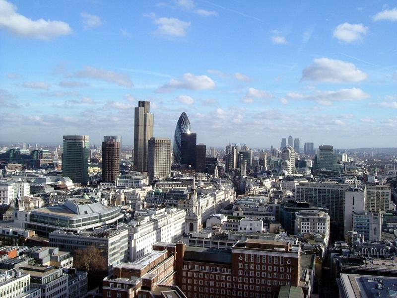 Blick über die Londoner City