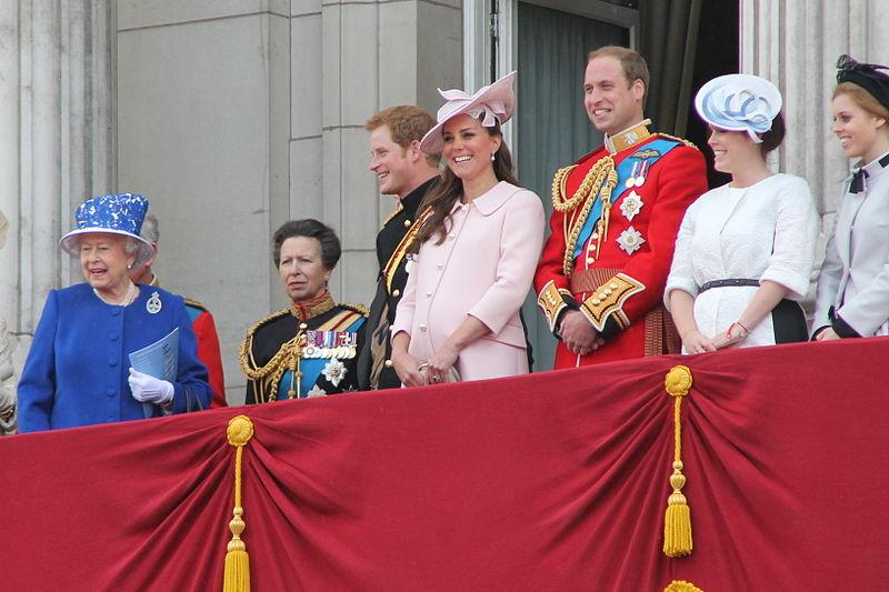 Britische Königsfamilie mit Herzogin Kate